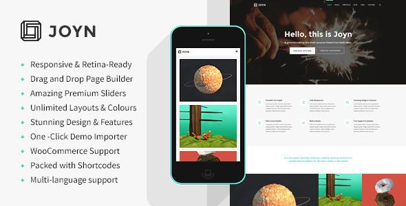 JOYN - Creative Multi-Purpose Theme - Creative WordPress