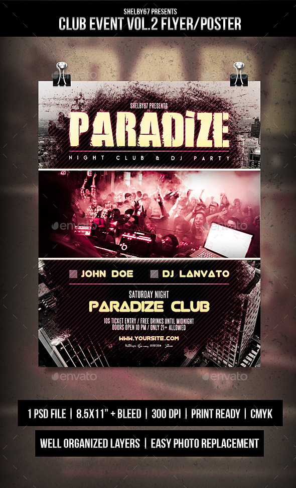 Club Event Flyer / Poster Vol.2 - Clubs & Parties Events