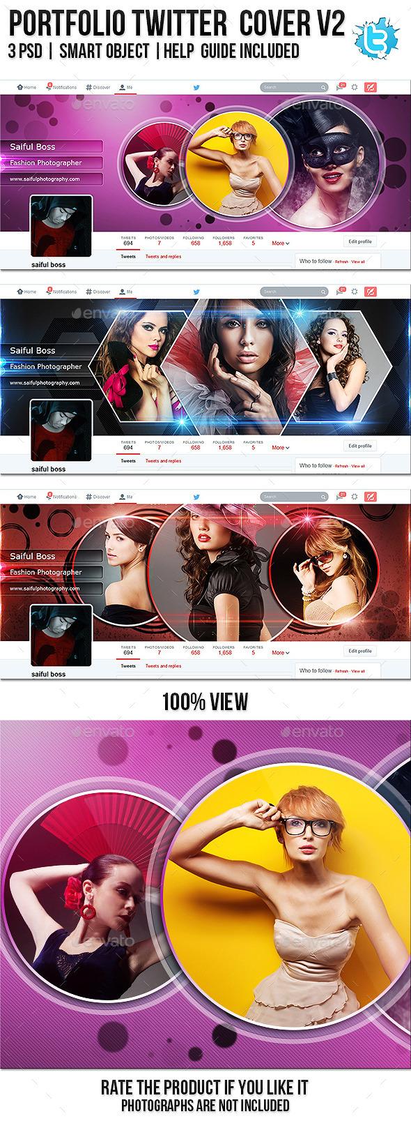 Portfolio Twitter Profile Cover V2 - Twitter Social Media