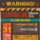 Quarantine Party Flyer - GraphicRiver Item for Sale