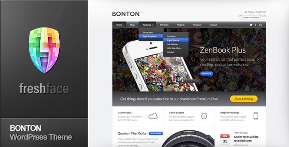 BONTON – Retina Ready Responsive WordPress Theme
