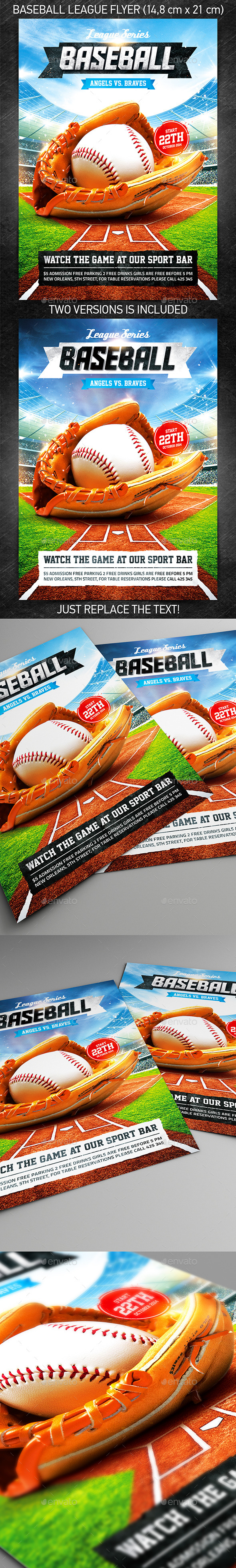 Baseball League Series Flyer - Sports Events