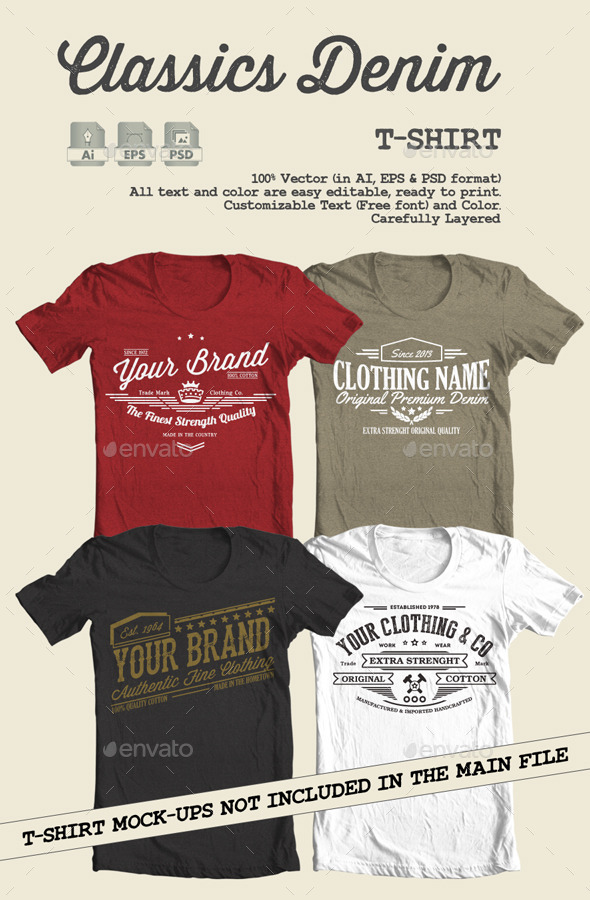 Classics Denim T-Shirt - T-Shirts