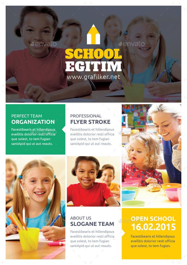 Kids School Flyer Templates By Grafilker02 Graphicriver