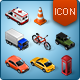 Isometric Map Icons - Cars and Traffic - GraphicRiver Item for Sale