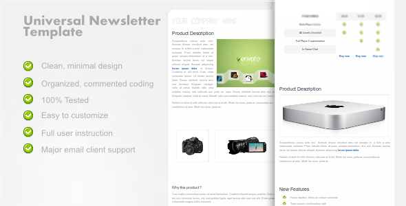Free Download UniversalNewsletter - Clean Email Template Nulled Latest Version