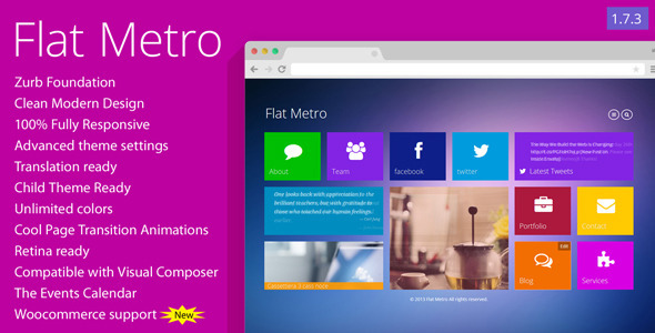 Flat Metro – Responsive WordPress Theme