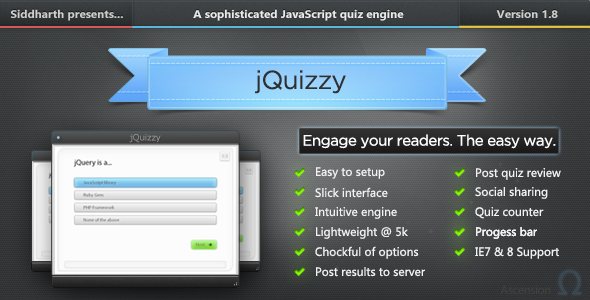 jQuizzy Classic - Premium Quiz Engine - CodeCanyon Item for Sale