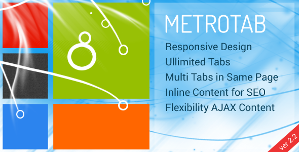 MetroTab - Responsive Tab for Metro UI - CodeCanyon Item for Sale