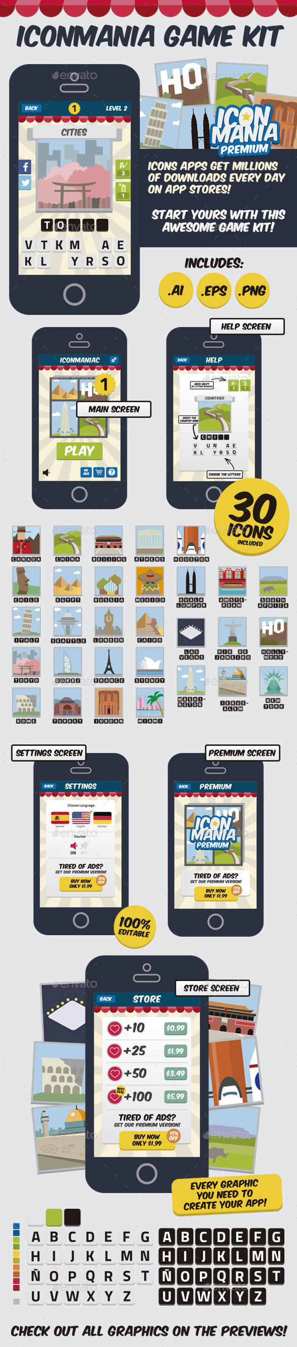 IconMania Game Kit - Game Kits Game Assets