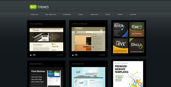 Buy Themes - Blogger Gallery Template - Blogger Blogging
