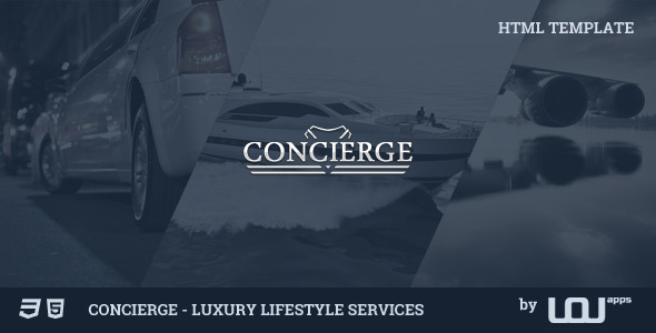 Concierge – Luxury Lifestyle Services HTML