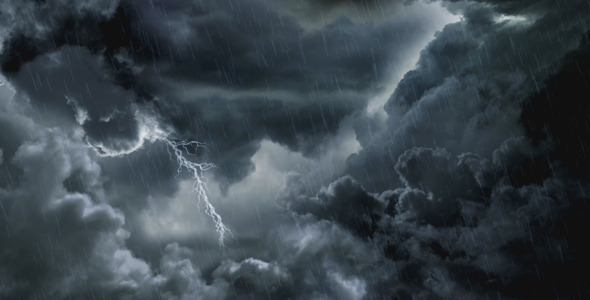 Dark Clouds And Lightning by Anatar | VideoHive