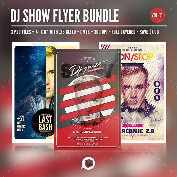 Dj Flyer Bundle Vol. 15 - Clubs & Parties Events