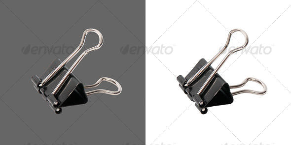 Heavy Duty Paper Clip - Home & Office Isolated Objects