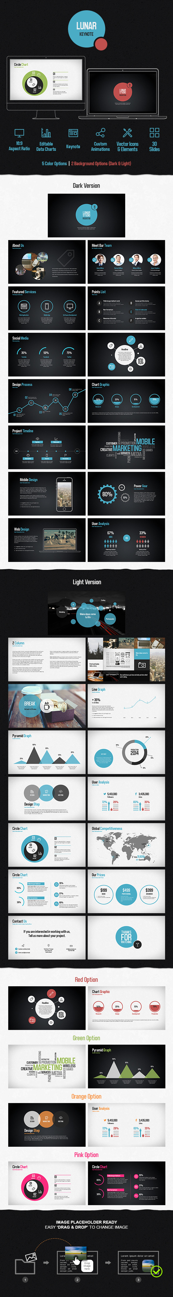 Lunar Keynote Presentation Template - Creative Keynote Templates