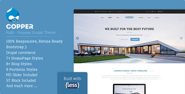 Copper - Multi-Purpose eCommerce Drupal Theme - Corporate Drupal