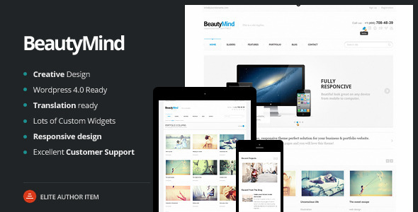BeautyMind – Responsive and Clean WordPress Theme