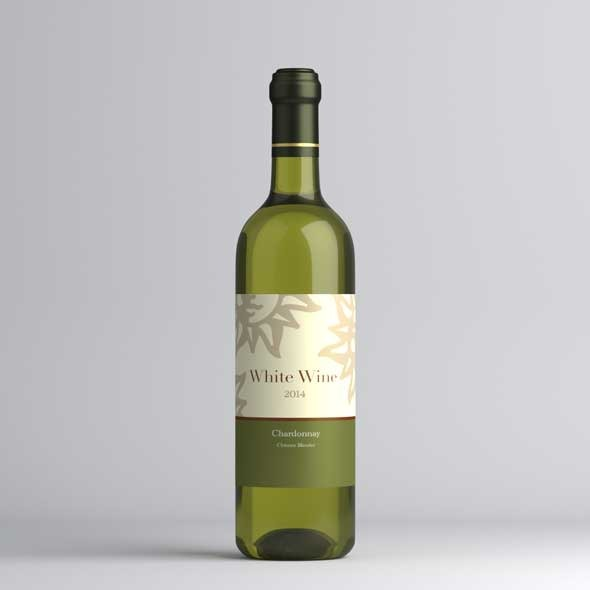 White wine bottle - 3DOcean Item for Sale