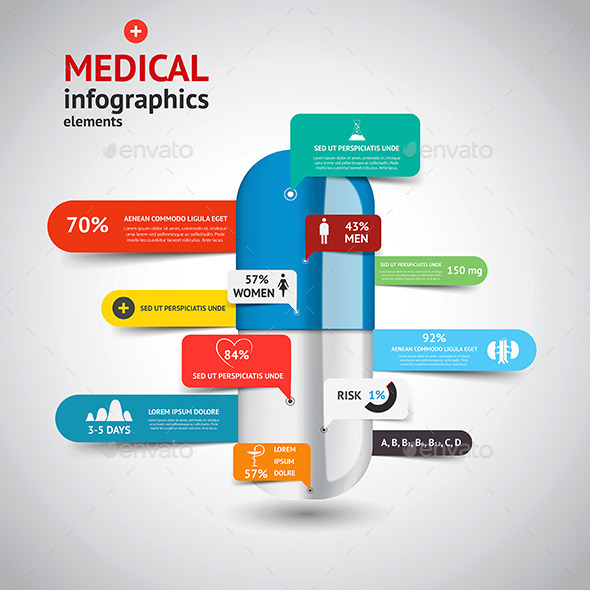 medical infographics elements by graphics4u