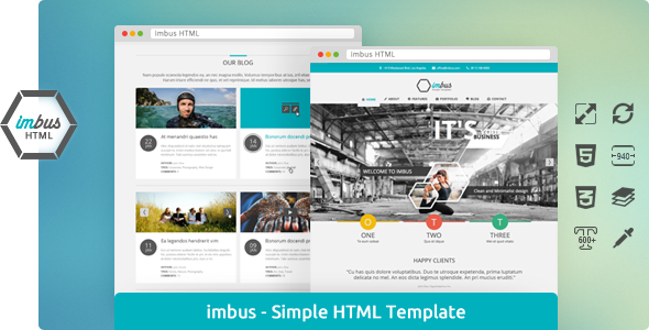 imbus – Simple HTML Template
