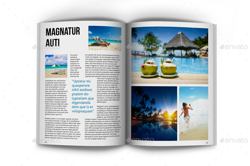 travel magazine template by happymens graphicriver
