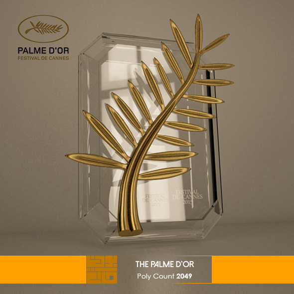 The Plame D'Or 3D Model  - 3DOcean Item for Sale