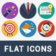 95 Modern Flat Icons - GraphicRiver Item for Sale