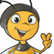 Bee Gesturing Victory Sign - GraphicRiver Item for Sale