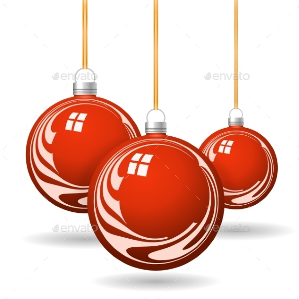 red christmas balls with gold ribbon and bows christmas seasonsholidays