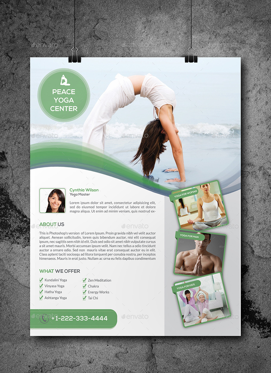 Yoga Flyer Template By Elitely Graphicriver