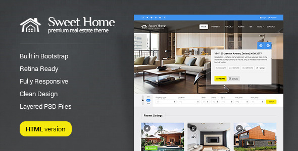 Sweethome - Real Estate HTML Template