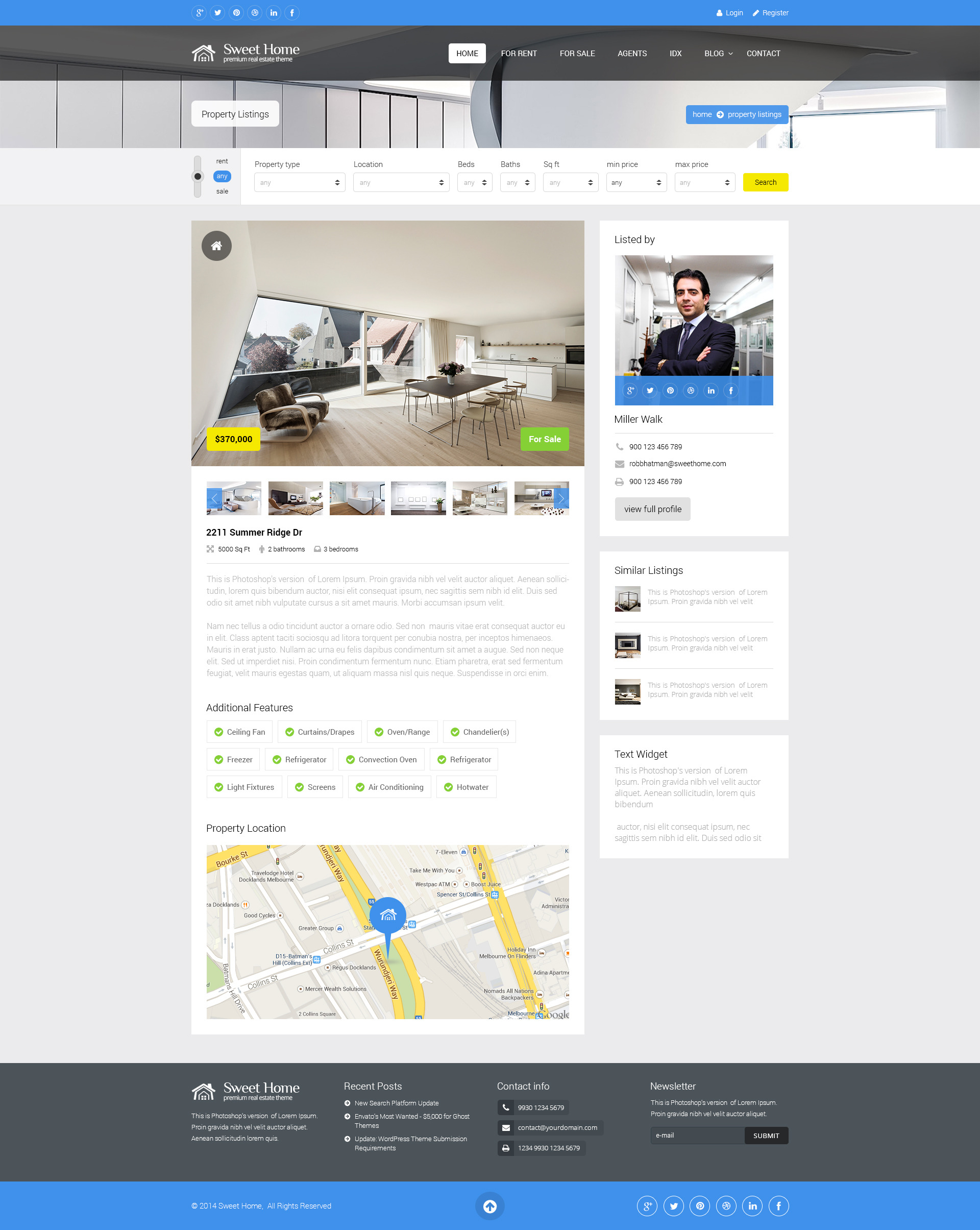 real estate websites templates