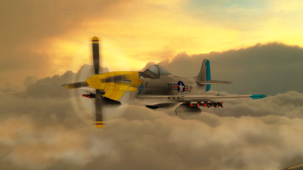 P-51 Mustang - 3DOcean Item for Sale