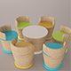 Tutti Frutti chair and table set - 3DOcean Item for Sale