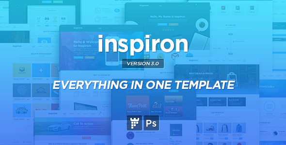 inspiron – Corporate Multipurpose PSD Template
