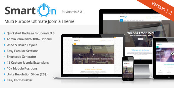 SmartOn – Multi-Purpose Ultimate Joomla Theme