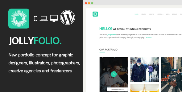 Download Jollyfolio - Creative Responsive WordPress Theme nulled version