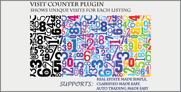 Visit Counter - Classifieds Plugin - CodeCanyon Item for Sale