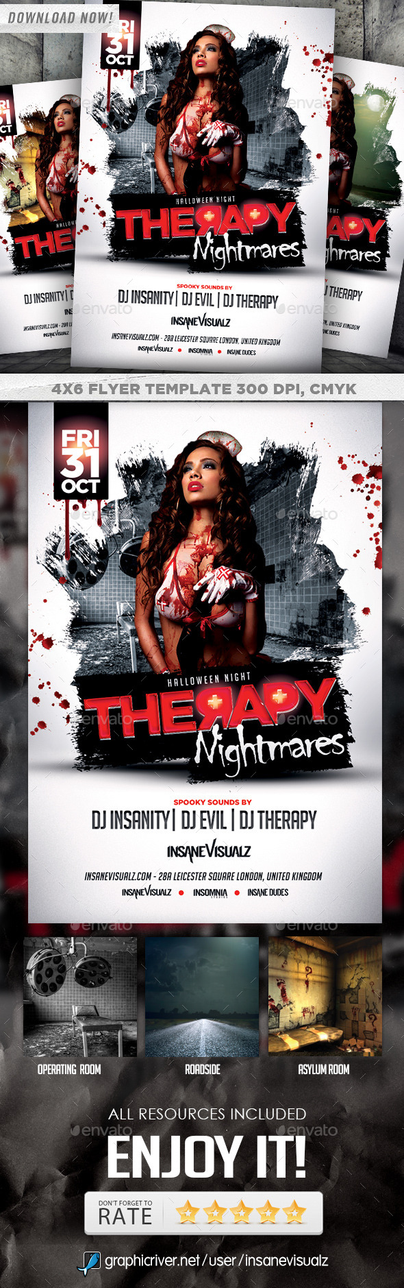 Therapy Nightmares Halloween Flyer
