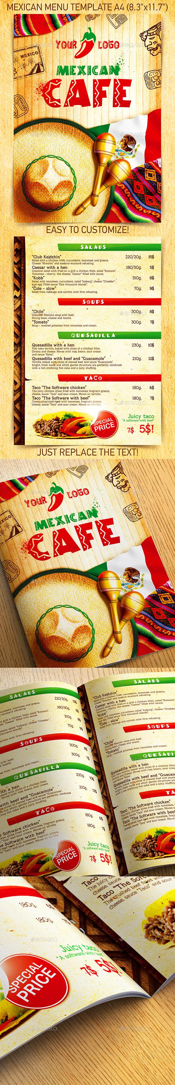 Mexican Menu Template vol.2