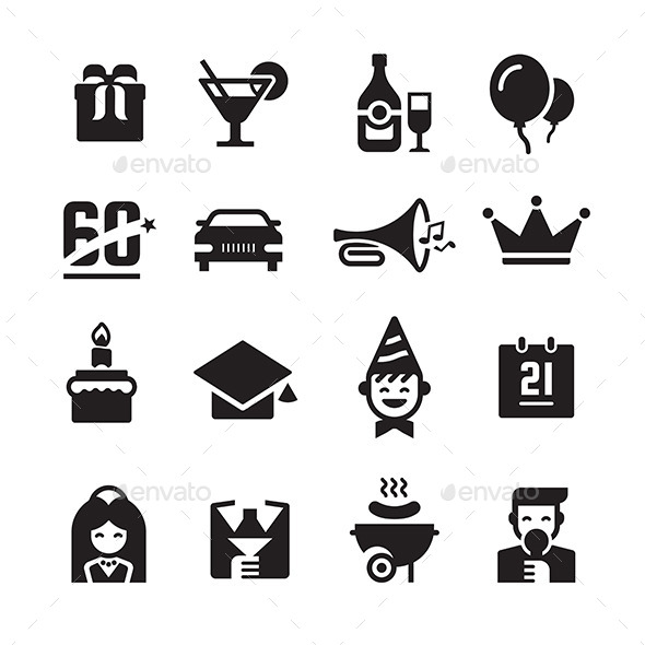 Party and Celebration Icons - Miscellaneous Icons