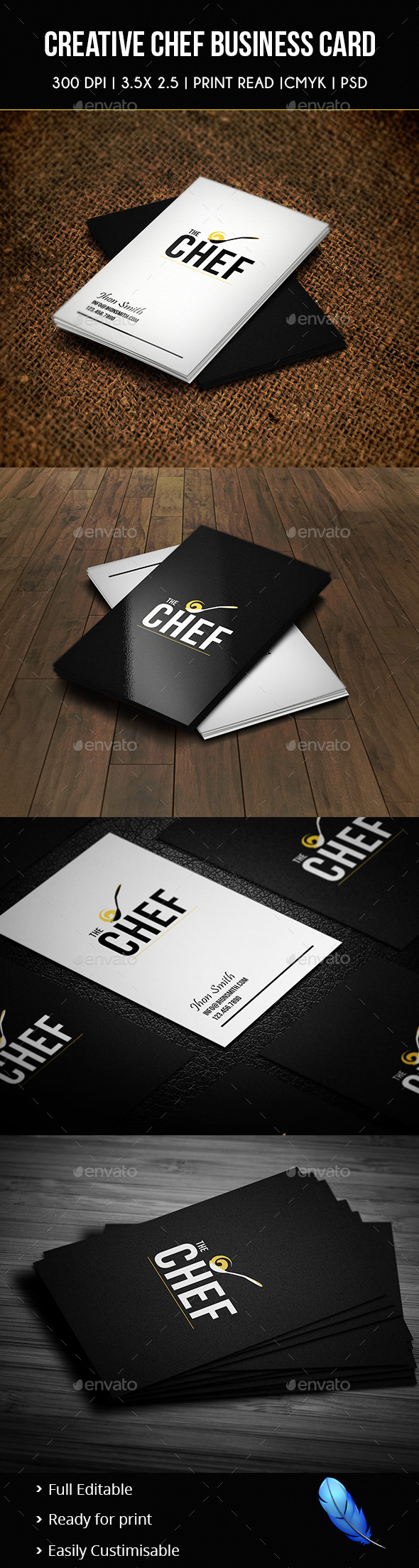 Creative Chef Business Card 02 by Awns | GraphicRiver