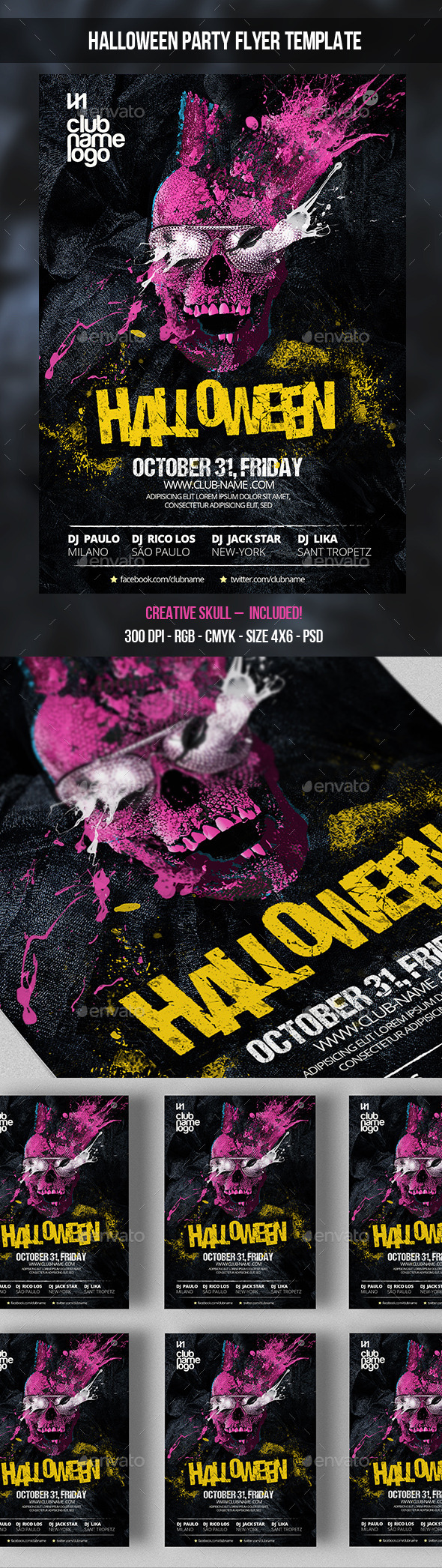 Halloween Party Flyer Template - Clubs & Parties Events
