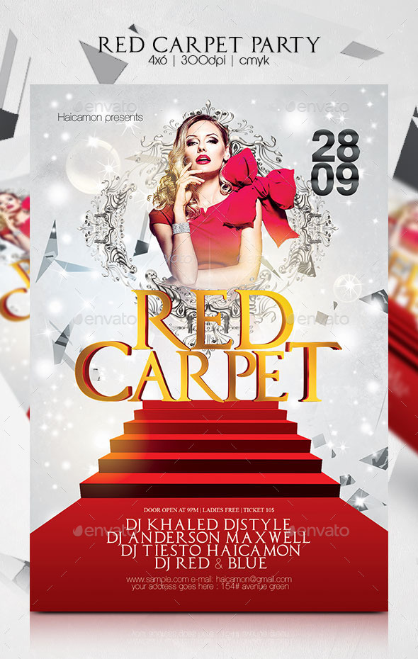 Red Carpet Party Flyer By Haicamon Graphicriver