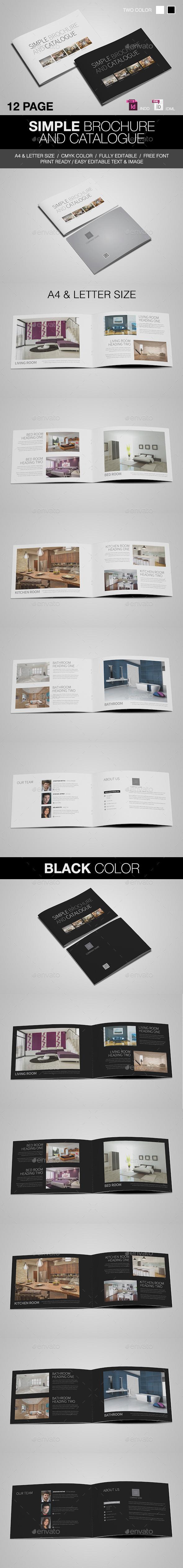 Simple Catalogue/Brochure - Brochures Print Templates