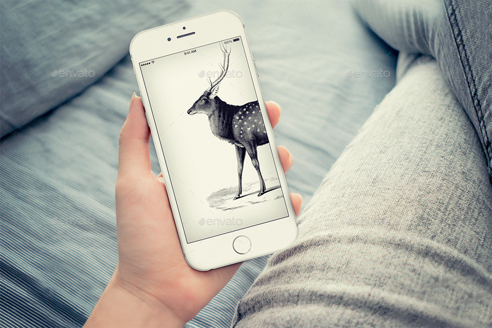 Realistic Phone 6 Mock-up