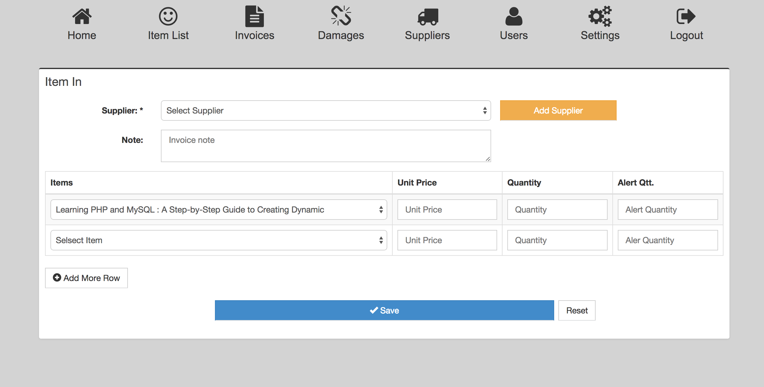 basic inventory stock management and invoice by ahkmunna codecanyon