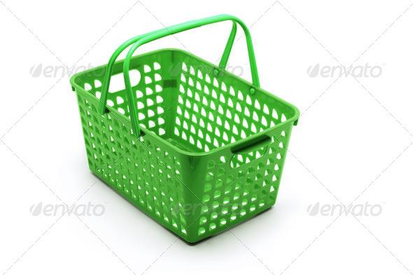 Plastic Basket - Stock Photo - Images