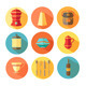 Vector Tableware Icons Set. Kitchen Utensils. - GraphicRiver Item for Sale